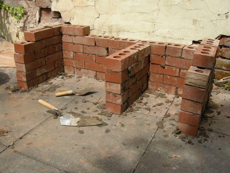 Costruire barbecue in muratura arredamento per giardino - Cucina esterna in muratura con barbecue ...
