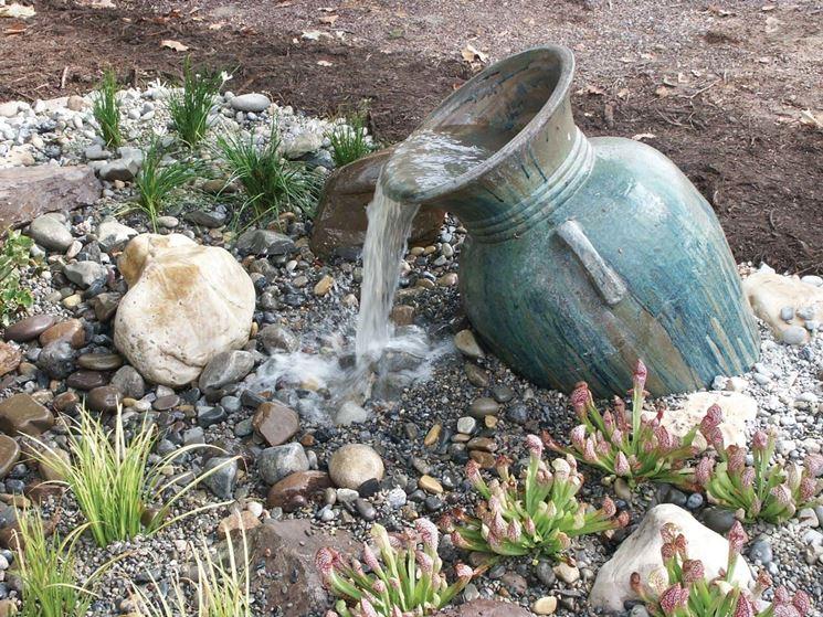 Fontana da giardino in cemento