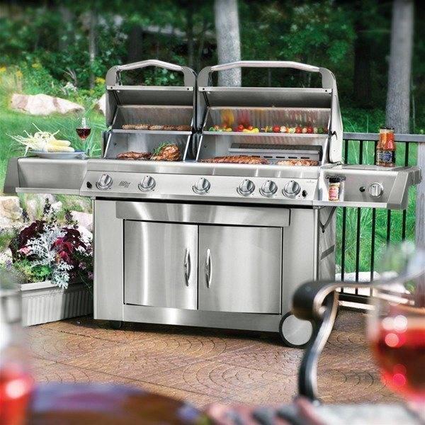 Modelli di barbecue a gas arredamento per giardino for Copertura per barbecue a gas