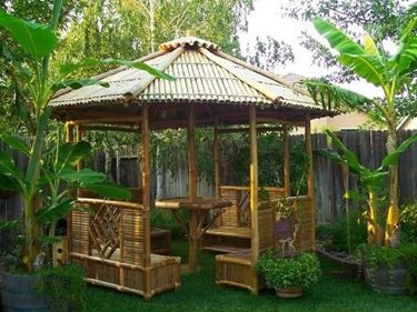 gazebo in bamboo