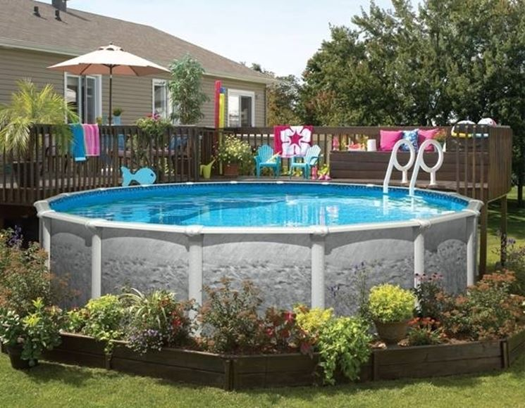Giardini con piscine fuori terra ur62 regardsdefemmes - Acquisto terra per giardino ...