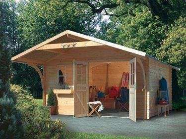 Box in legno con veranda