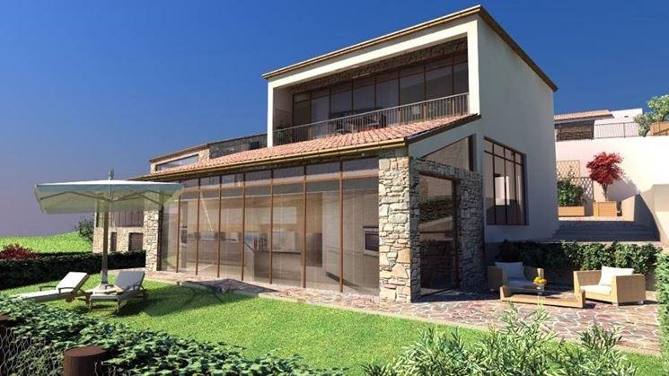Caratteristiche case in legno x lam casette per giardino - Ingressi case moderne ...