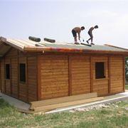 Una casa in costruzione