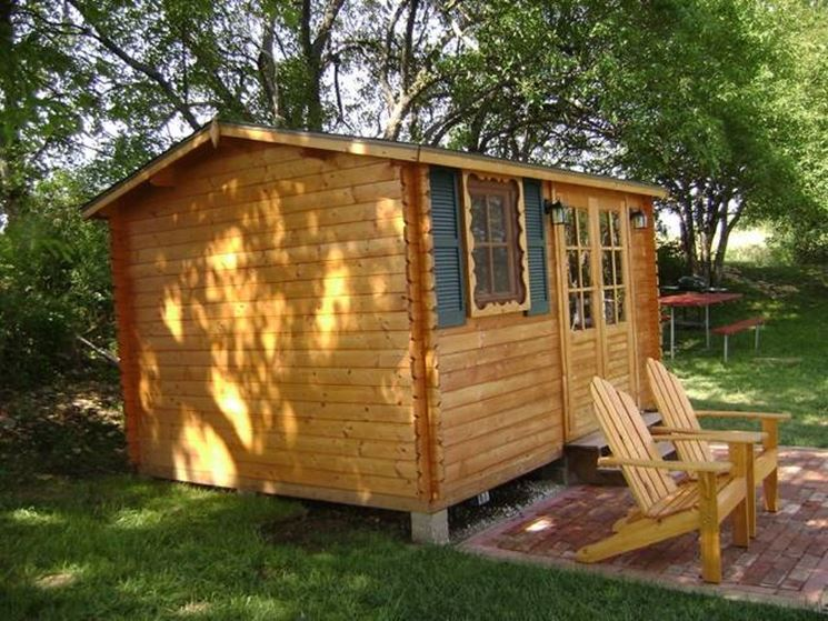 La più classica tra le casette in legno da giardino