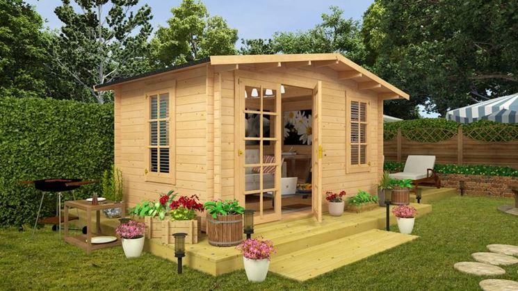 Bellissimo esempio di casetta da giardino abitabile