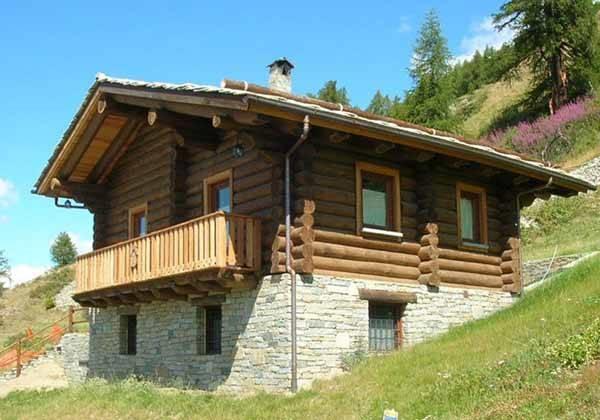 Chalet in legno prefabbricati casette per giardino for Case di tronchi con planimetrie seminterrato