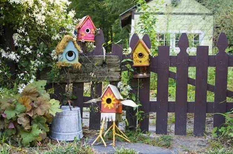 Casette per uccelli creative