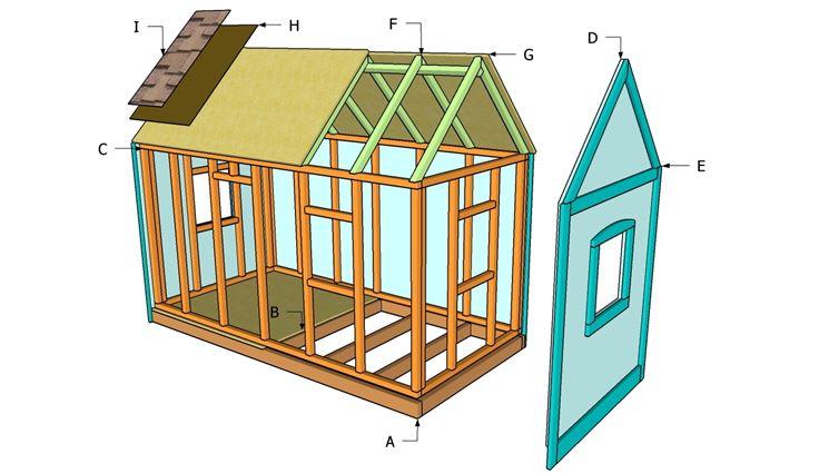Una casa in legno in costruzione