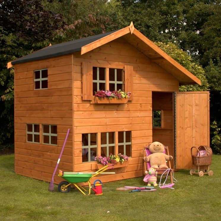 Una complessa casa di legno