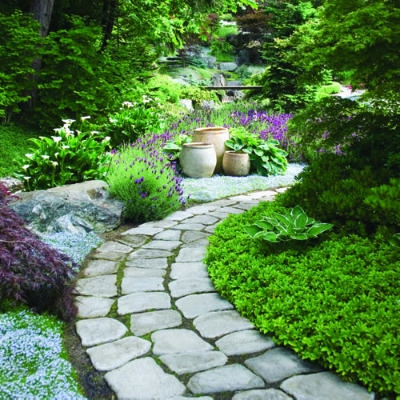 Come realizzare vialetti in pietra fare giardinaggio - Viali da giardino ...