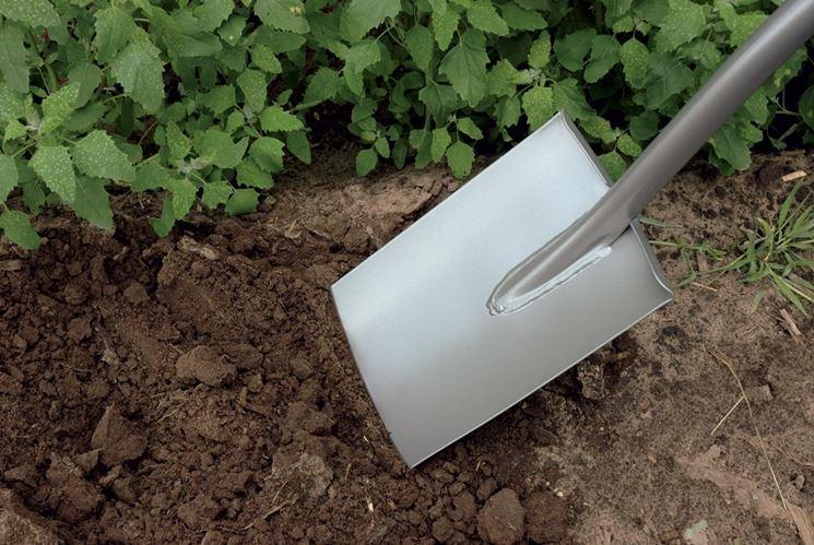 Vangatura su terreno in giardino