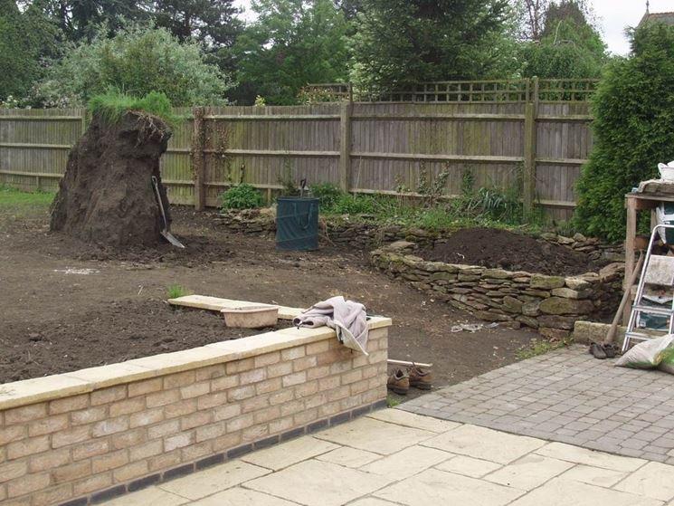 Mattone faccia a vista materiali per giardini mattone - Muretti per giardino ...