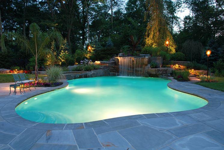 luci piscina