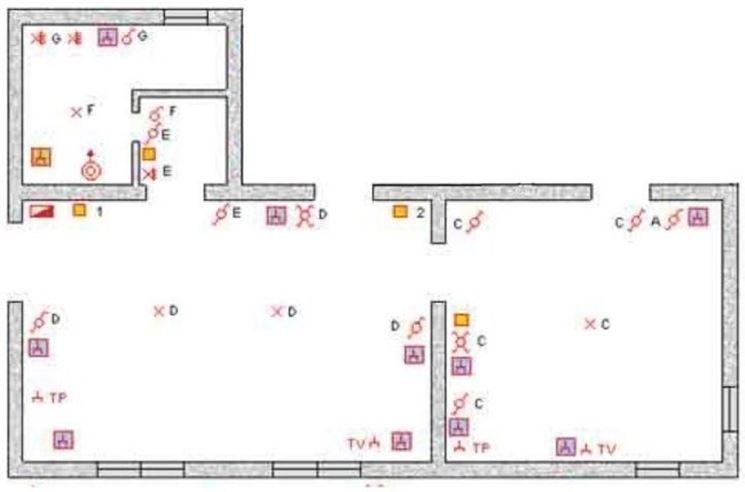 Impianto elettrico a norma gli impianti elettrici for Schema impianto elettrico casa
