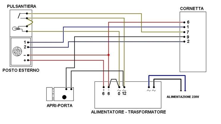 Esempio schema citofono