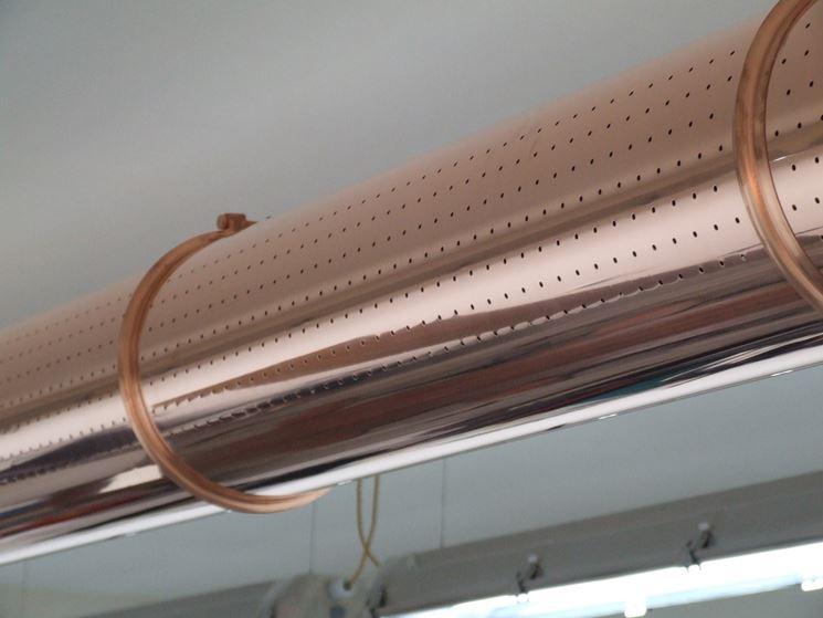 Canale d'aria a sezione circolare microforato