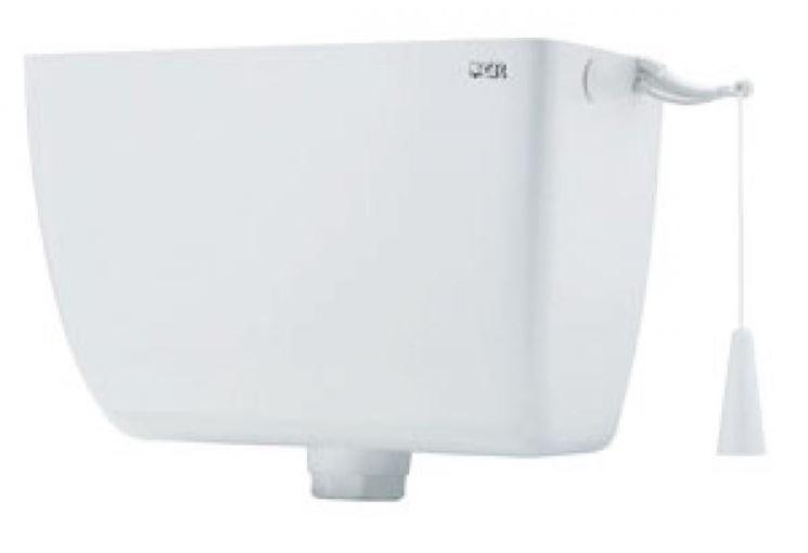 Una cassetta di scarico per WC con comando a catena