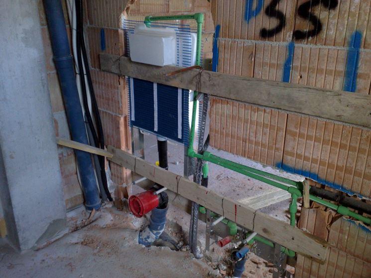Sistemazione di un impianto di scarico