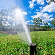Impianto irrigazione in azione