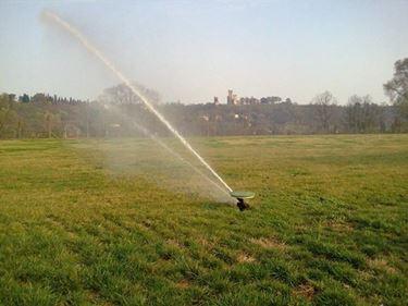 Impianto di irrigazione interrato per grandi superfici