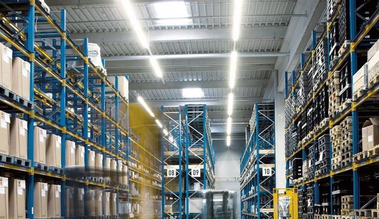 Illuminazione LED in reparti industriali