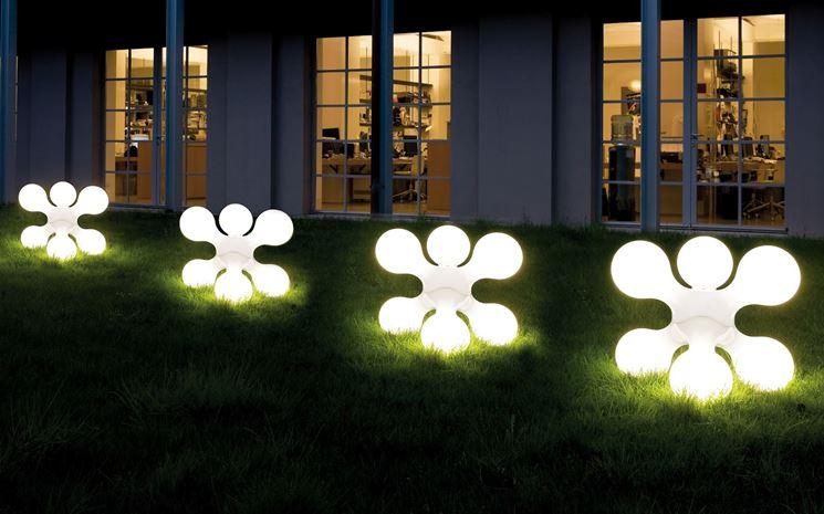 Esempio di lampioni da esterno