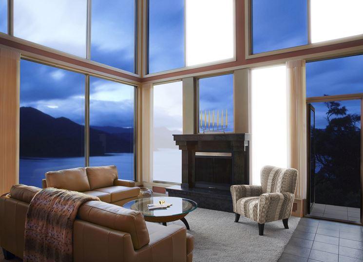 finestre con pannelli oled