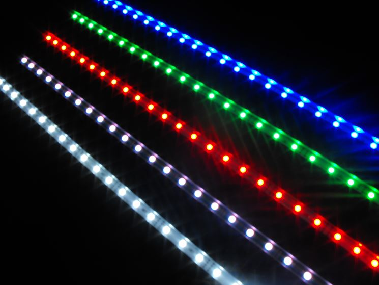 Strisce di LED colorate