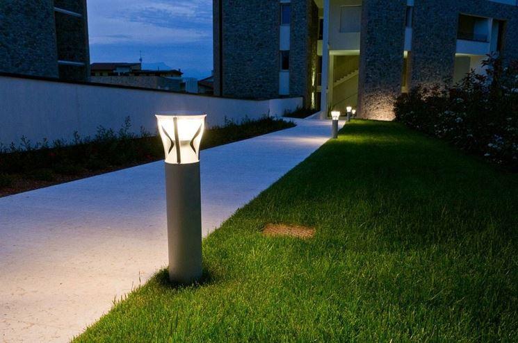 Paletti di illuminazione giardino lampioncini led da esterno