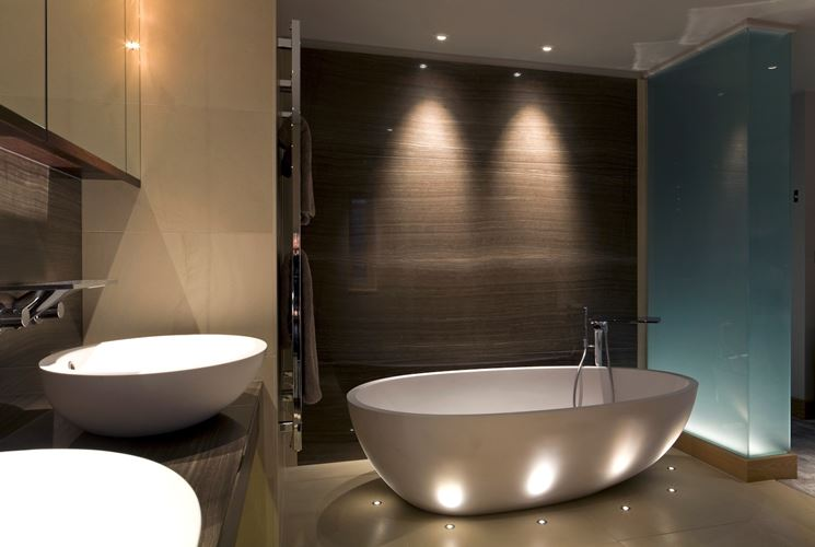 luci led colorate per il bagno