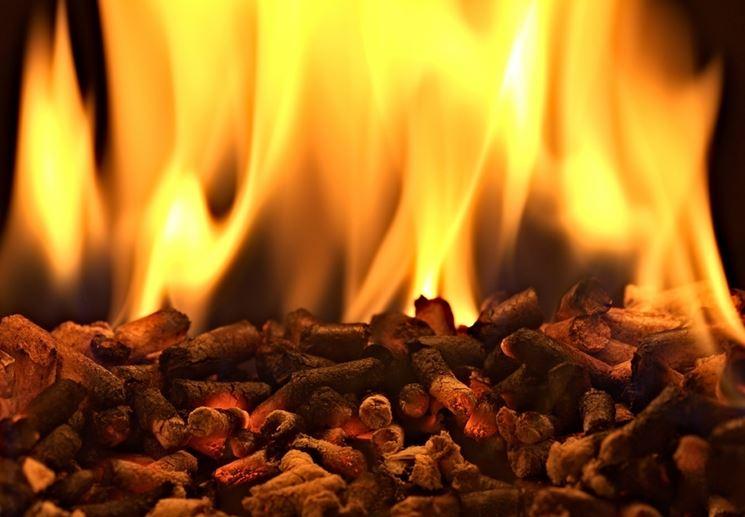 Pellet usato come combustibile