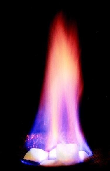 Tipica fiamma da metano