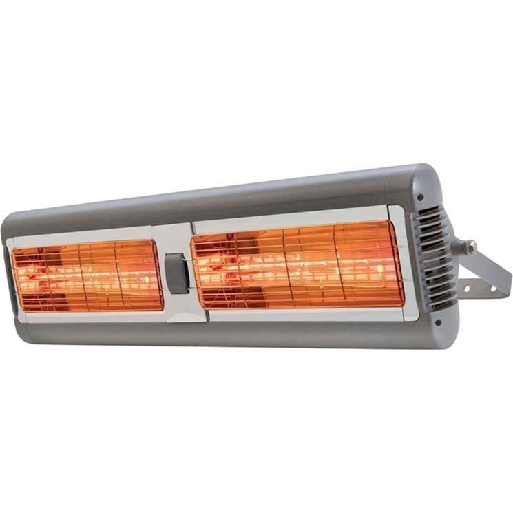Una stufa elettrica ad infrarossi