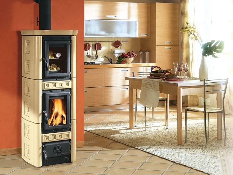 Stufa a legna con ampio forno