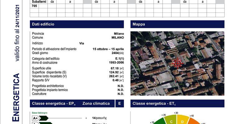 certificazini energetiche Lombardia