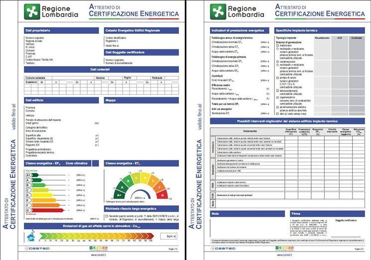 certificazione energetica Lombardia