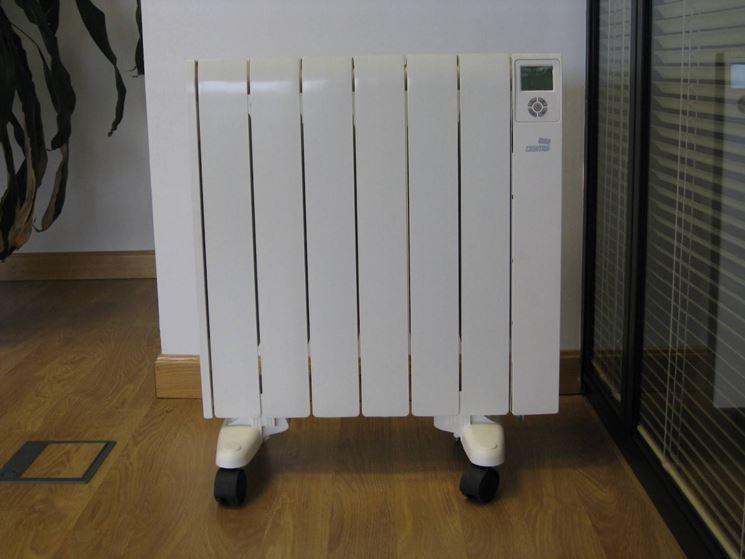 I radiatori elettrici si possono trasportare grazie alle ruote