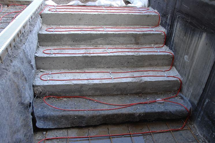 Cavi scaldanti su scalini