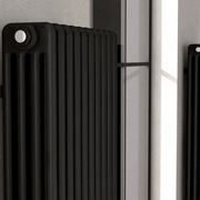termosifoni in acciaio inox neri