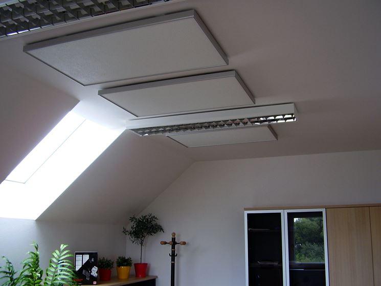 Pennelli a infrarossi installati sul soffitto