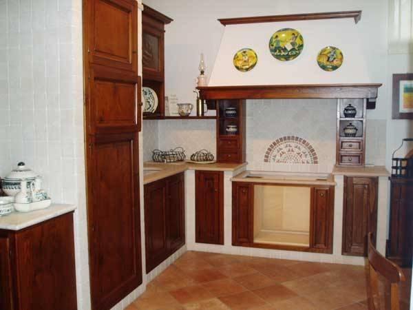 Immagini rivestimento pilastro al centro - Rivestimento cucina in muratura ...