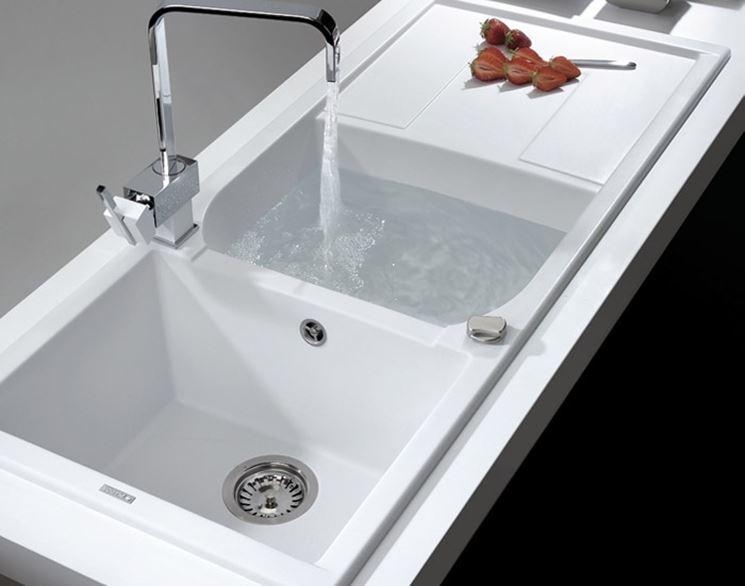 Lavello Cucina Fragranite O Acciaio. Amazing Lavello Con Una Vasca ...