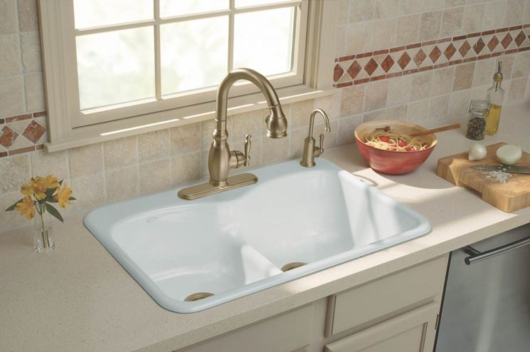 lavelli in ceramica - Componenti cucina - Come installare i lavelli ...