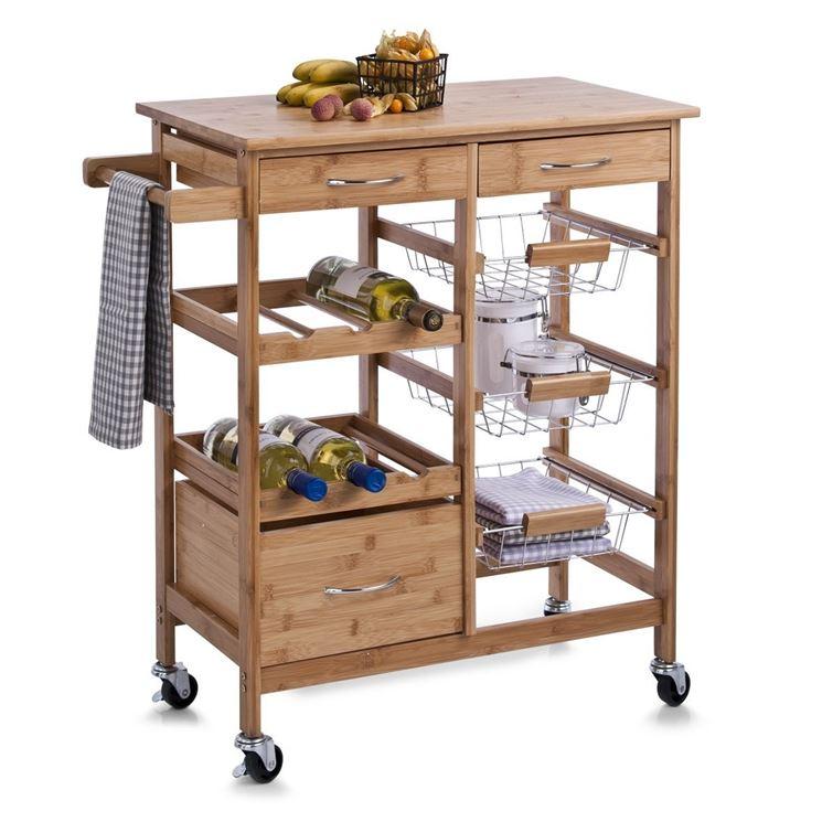 Modelli di carrelli da cucina componenti cucina - Mobiletto per microonde ...