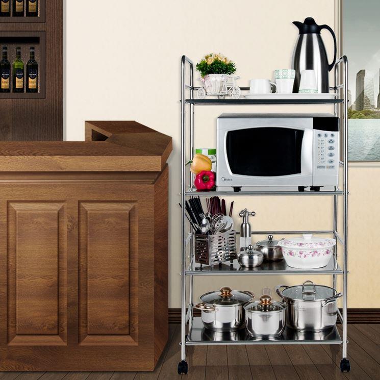 Modelli di carrelli da cucina componenti cucina - Carrelli estraibili per cucine ...