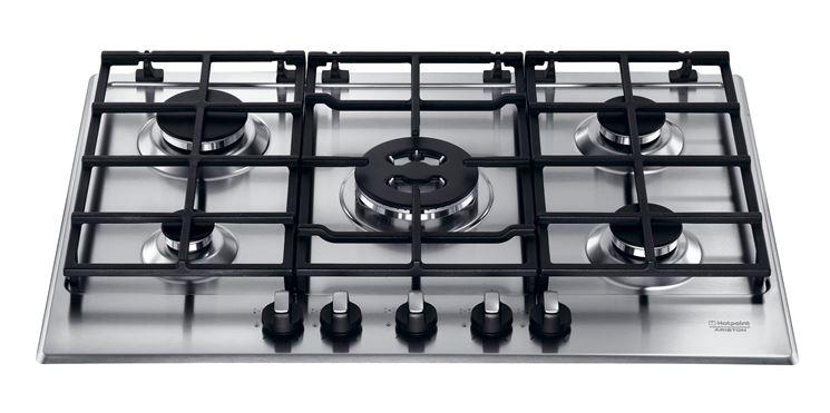modelli di piano cottura a 5 fuochi in acciao inox
