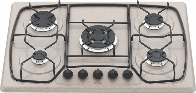 modelli di piano cottura a 5 fuochi: piano cottura in granito