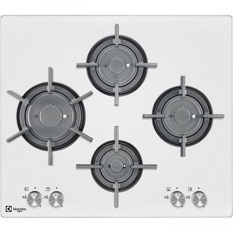 Piano cottura bianco a quattro fuochi - Electrolux
