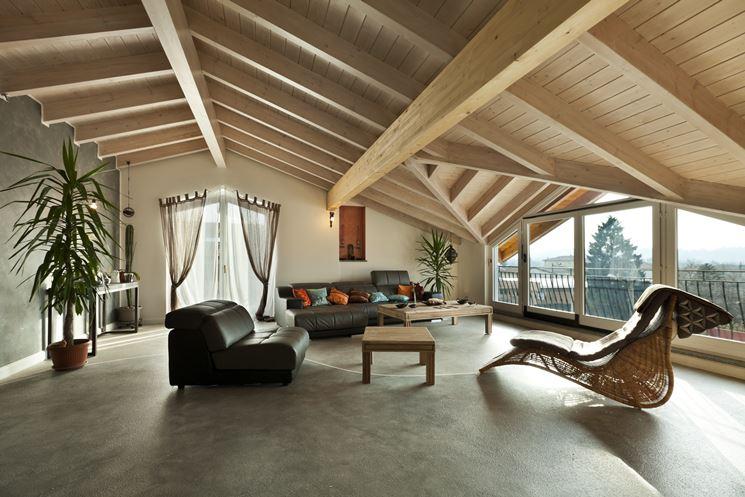 Arredare mansarde in legno costruire una casa la for Come costruire una casa modello